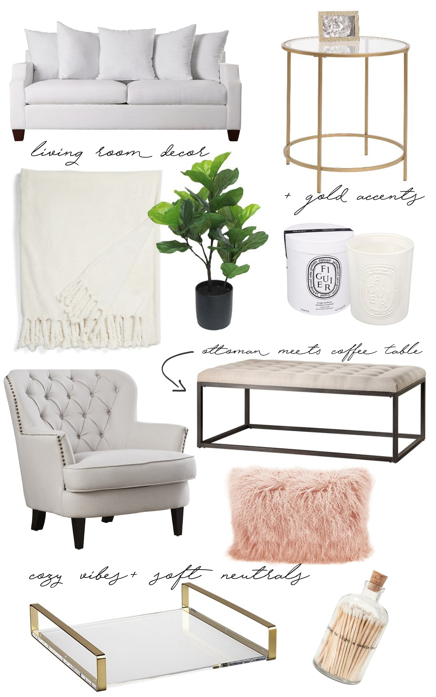 living room decor wish list fancy things