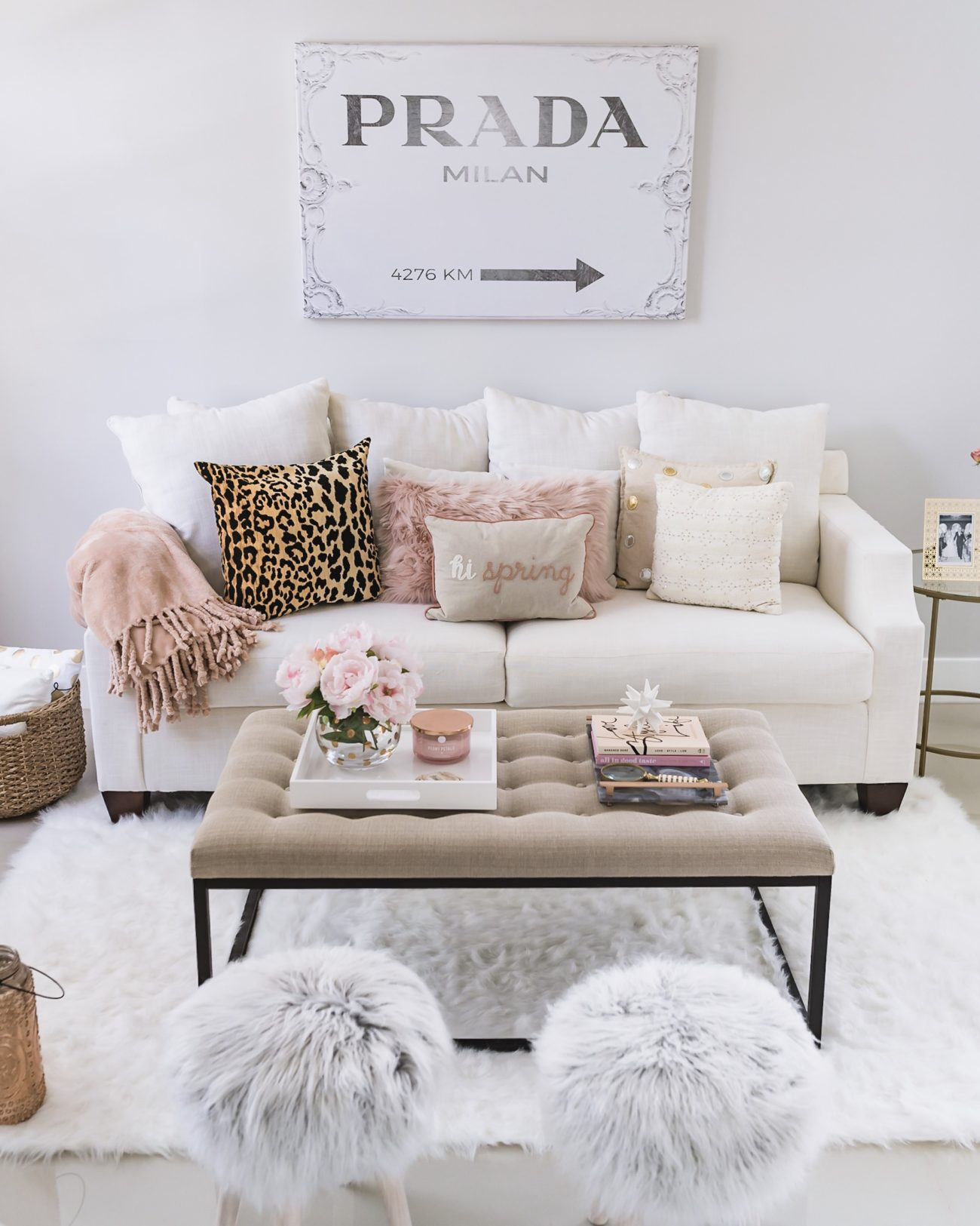 Neutral Cozy Chic Living Room Space Fancy Things Fancy