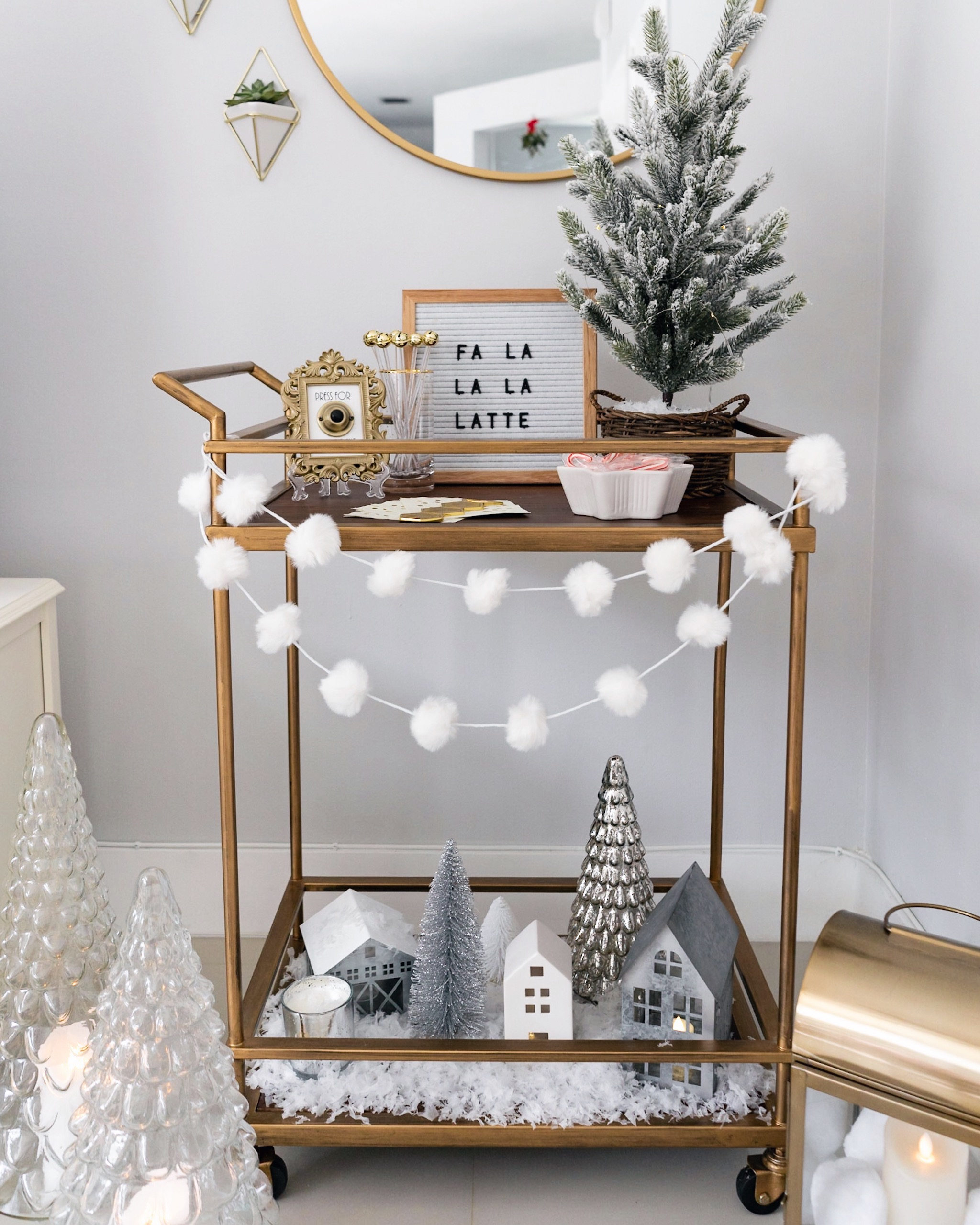 Holiday Bar Cart Winter Wonderland The Fancy Things