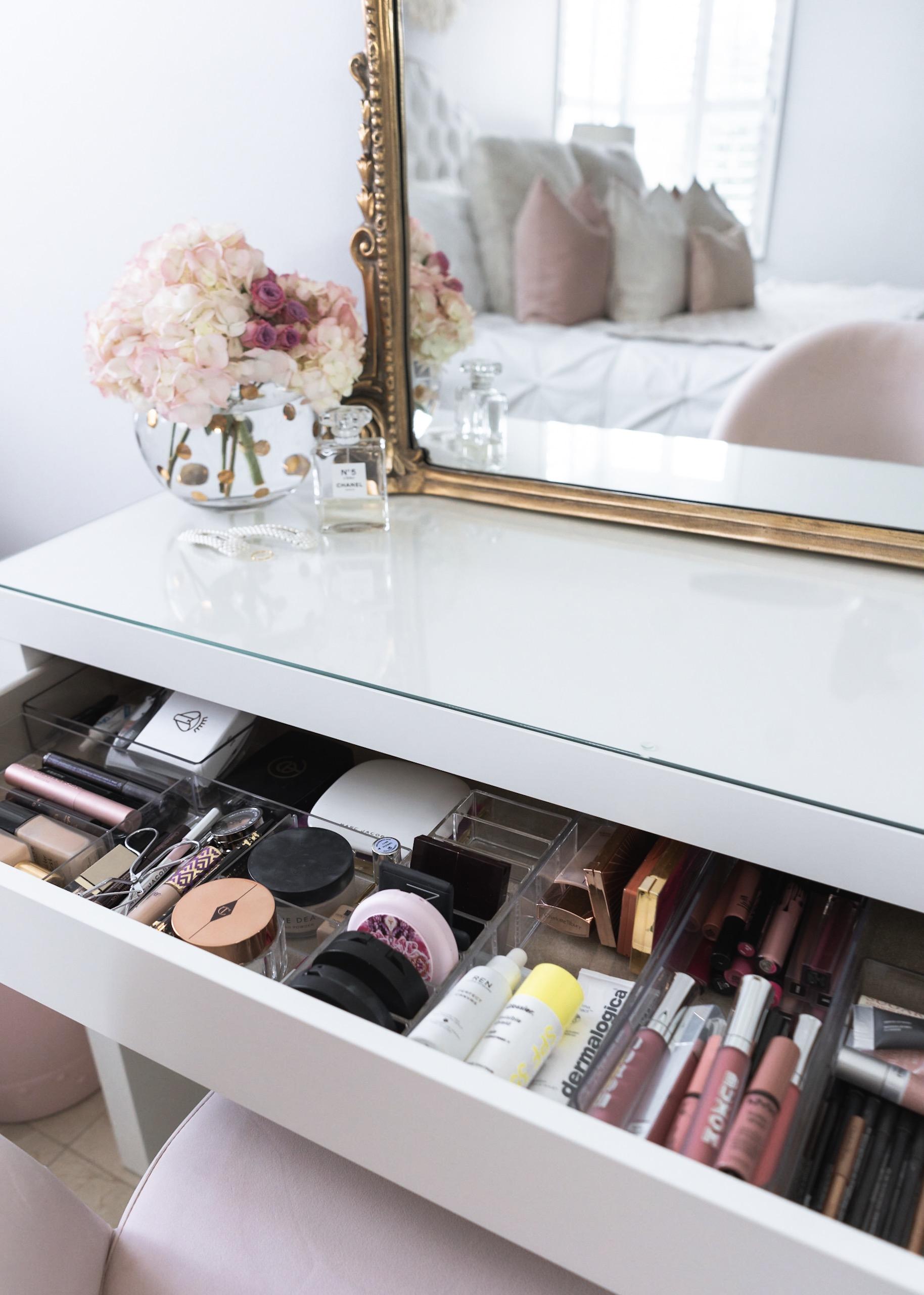 How I Organize My Makeup Bedroom